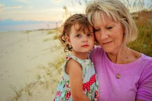 My princess Chandler, with her Nanny Cee Cee at the beach.