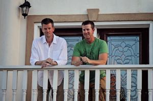 My brother Allen (on the left) and me enjoying time together at the beach house.