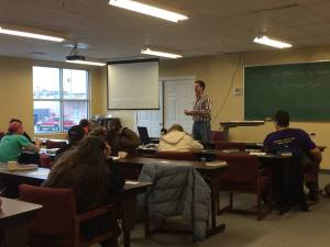 Me teaching a class in the Willard Learning Center