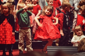 This is my princess Chandler at her school Christmas program last night.
