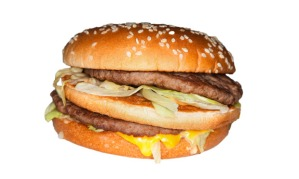 McDonald's big mac beef burger
